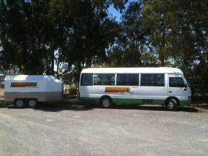 Toyota Coaster and Trailer For Hire